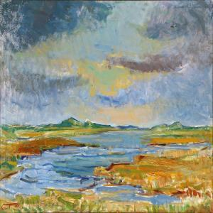 Carl Trier Aagard - Landscape With Heavy Clouds