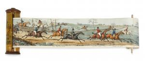 Samuel Henry I Alken - Panorama Of A Fox Hunt, With Entitled Scenes