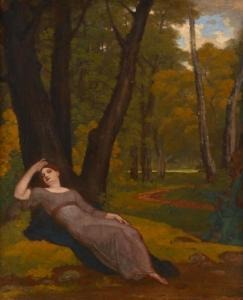 Washington Allston - Una Sleeping In A Wood