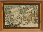 ANONYMOUS American Pictorial Hooked Rug
