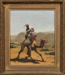 ANONYMOUS Camel Rider In A Desert Landscape