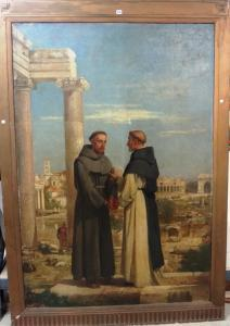 Edward Armitage - The Meeting Of St Francis And St Dominic