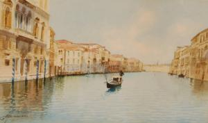 G. H. Biondetti - Gondola On The Grandcanal
