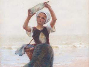 Hector Caffieri - Girl With Bottle Post