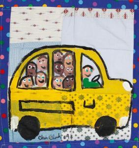 Chris Clark - Quilt With School Bus