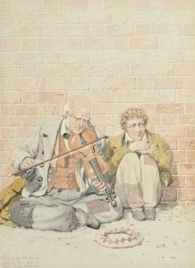 Richard Dadd - Sketch For 'poverty'