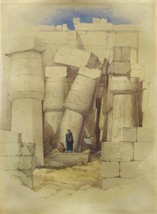 Richard Dadd - The Hall Built By Tathmosis Iii In The Great Temple Of Anom Karnak, Luxor