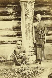 Emile Gsell - A Study Of Two Buddhist Monks And Six Views Of Angkor Wat