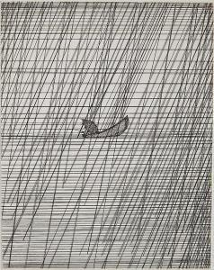 Art Hansen - Fisherman In Rainstorm