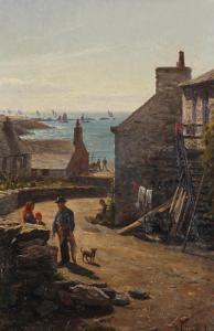 John Holland - A Fishing Village, Thought To Be On The Isle Of Man