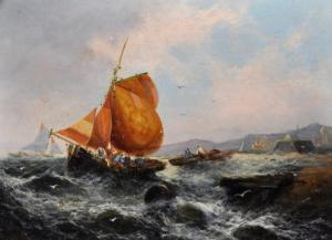 George Knight -  A Shipping Scene