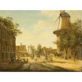 LA FARGUE Jacob Elias The Hague: A View Of The Westeinde Towards The Loosduinsebrug , With The Heeremolen To The Right
