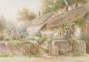 G.K. Mason - Two Views Of Anne Hathaway's Cottage