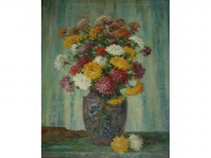 Camille Matisse - Still Life Of A Vase Of Chrysanthemums