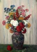 MATISSE Camille Still Life Of Chrysanthemums In A Vase