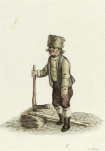 Gottfried Mind - Peasant With Axe.