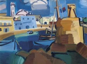 Denis Peploe - Harbour, Cyprus