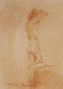 Roy Petley - A Nude Standing