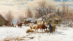 William Preston Phelps - New England Winter Scene