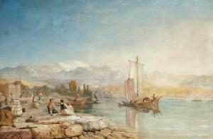 James Baker Pyne - By The Margin Of Fair Zurich's Waters