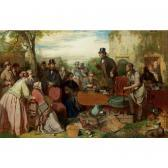 RITCHIE John The Sale Of The Captains Goods: An Auction In The Grounds Of A Country House