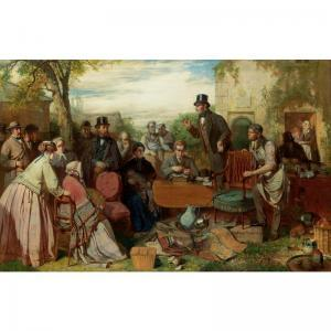 John Ritchie - The Sale Of The Captains Goods: An Auction In The Grounds Of A Country House