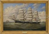 """sanborn  percy a. Portrait Of The Ship """"glory Of The Seas"""""""