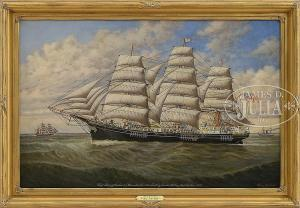 """Percy A. Sanborn - Portrait Of The Ship """"glory Of The Seas"""""""
