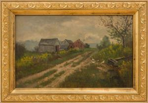 Frank Henry Shapleigh - Old Farm House At Jackson