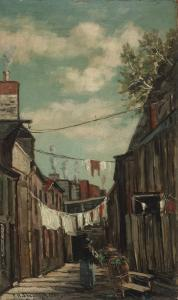 Frank Henry Shapleigh - Old Street In Quebec