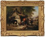 SHAYER Snr. William, Figures And Animals Before A Smithy