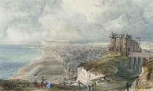 Percival Skelton - Soldiers On The Cliffs Above Dieppe