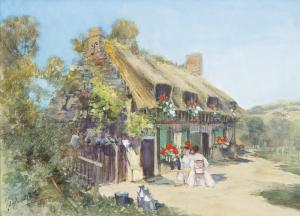 Francis Hopkinson Smith - Thatched Cottage, Normandy