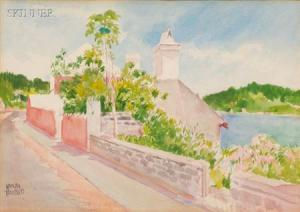 Adolph Treidler - The Road Along The Cove/a Bermudan View