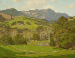 William Wendt - Verdant Hills On A Clear Day