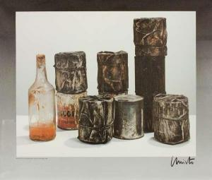 Christo Yavachev - Wrapped Cans And A Bottle (group Of Ten And One Bottle)